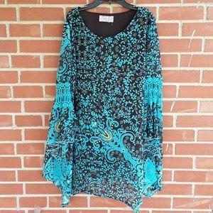 Lady noiz plus-size 1X Bohemian shift dress